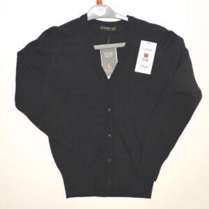 94) Black V Neck Cardigan