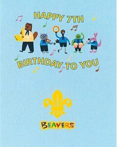 171 Beavers 7th Birthday cards