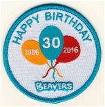beaver badge 80mm