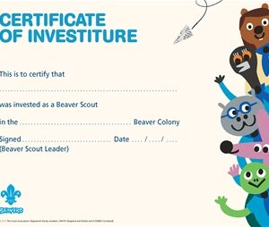 beavers investiture certificates
